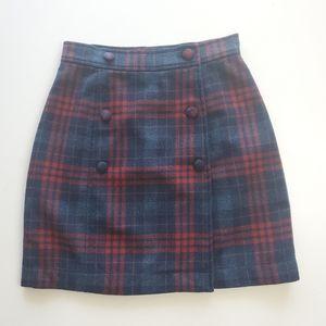 Vintage/Y2K Gap plaid wrap mini skirt